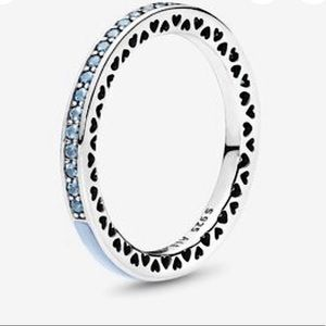 Hearts of Pandora Light Blue Stackable Ring, NWT!